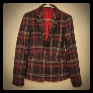 Express Plaid Blazer Jacket